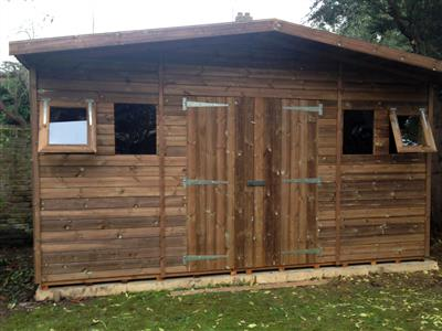 15x7 S1 Beast wood Garden shed