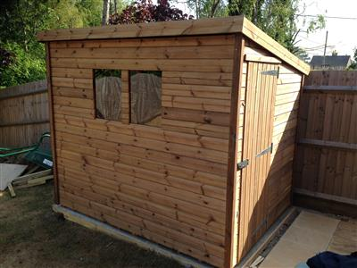 8x6 Pent-D Beast wood Garden shed