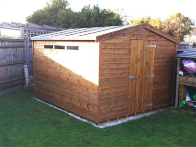 11x9 Apex Tanalised wood Garden shed