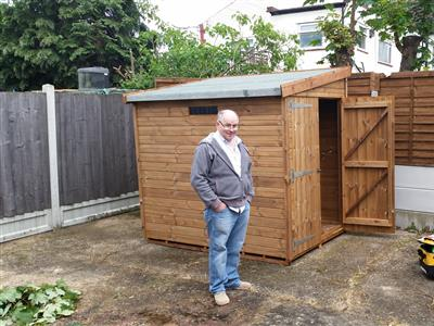 7x5 Pent-F Tanalised wood Security shed