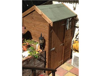 6x4 HiPex-A Tanalised wood Garden shed