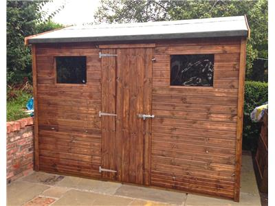 10x8 HiPex-C Tanalised wood Garden shed