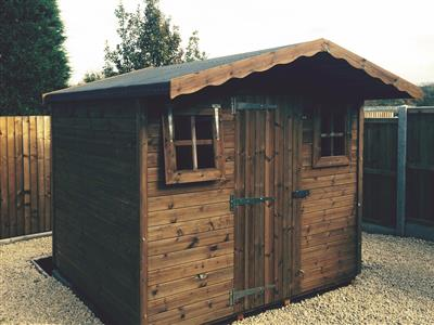 8x7 S1 Tanalised wood Garden shed