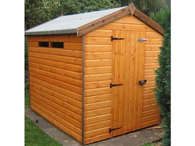 8x6 Apex Standard wood Security shed