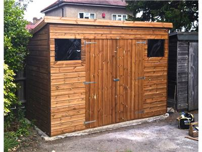 10x5 Pent-C Tanalised wood Garden shed