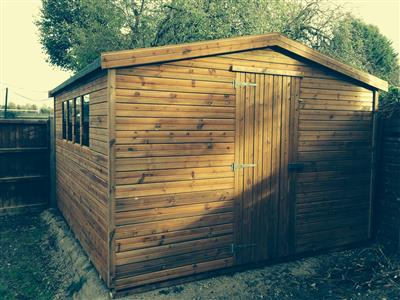 12x10 Apex Tanalised wood Garden shed
