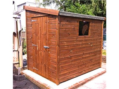 7x5 Pent-G Tanalised wood Garden shed