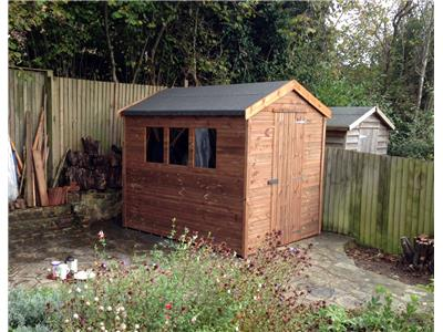 8x6 Apex Tanalised wood Garden shed