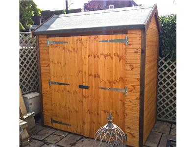 7x4 HiPex-C Tanalised wood Security shed
