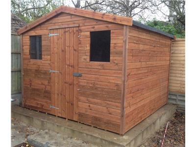 9x9 Apex Tanalised wood Garden shed