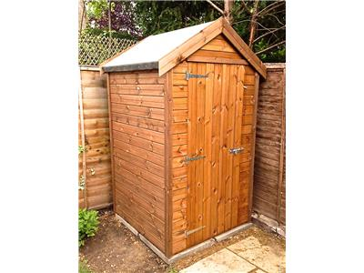 4x4 Apex Tanalised wood Garden shed