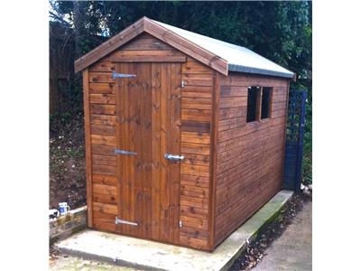 10x5 Apex Tanalised wood Garden shed