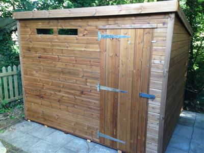 9x7 Pent-B Tanalised wood Security shed