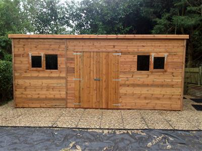 19x14 Pent-C Tanalised wood Garden shed