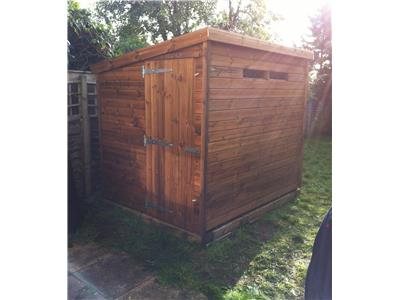 8x6 Pent-E Tanalised wood Security shed