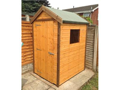 5x4 Apex Standard wood Garden shed