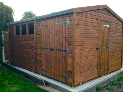 14x10 HiPex-B Beast wood Garden shed