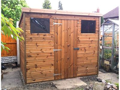 8x6 Pent-C Tanalised wood Garden shed