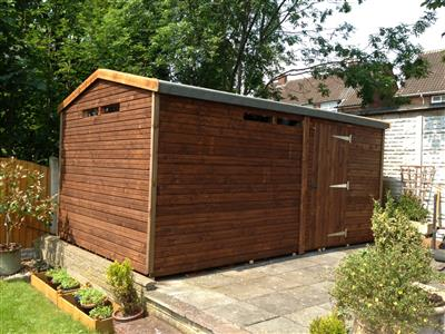 15x9 HiPex-B Tanalised wood Security shed