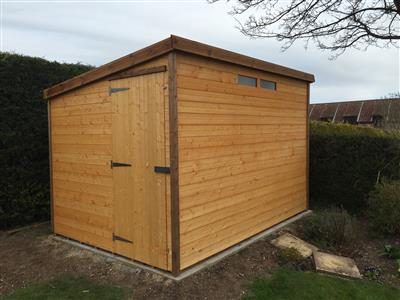10x7 Pent-E Standard wood Security shed