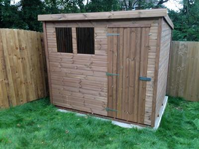 8x6 Pent-B Tanalised wood Garden shed