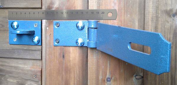 Security Door Hasp Amp Staple Lock