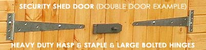 security door hinge and padlock protector
