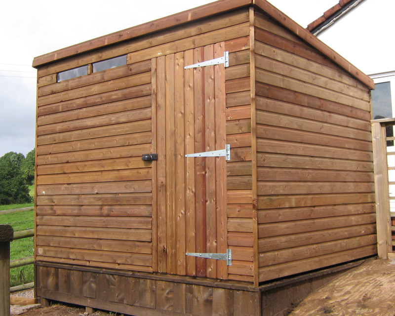 Flat Roof Wooden Sheds : Guide to get pent shed plans jelly cupboard antique wood