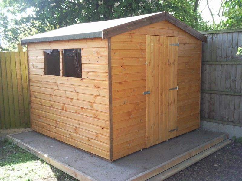 Potting sheds cheshire small wood garden sheds 8x8 sheds for Garden shed 8x8