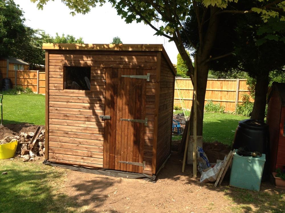 wooden sheds 5 x 7 slp