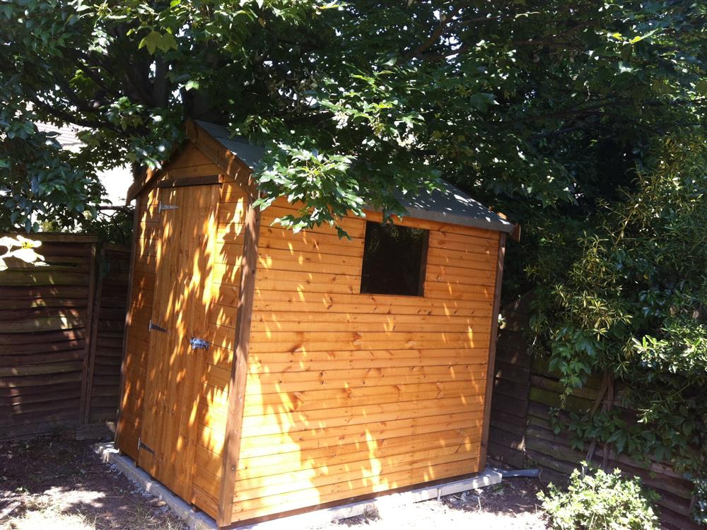 7x5 wooden shed the shed build for Garden shed 7x5