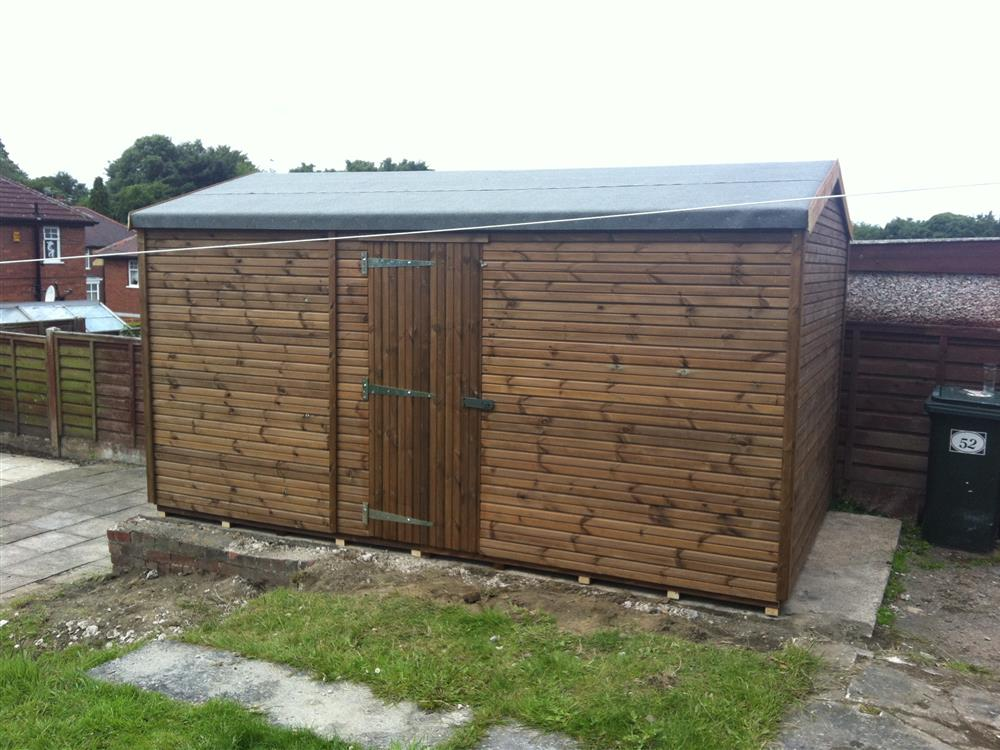 14x8 HiPex-C Beast wood Garden shed. No windows.