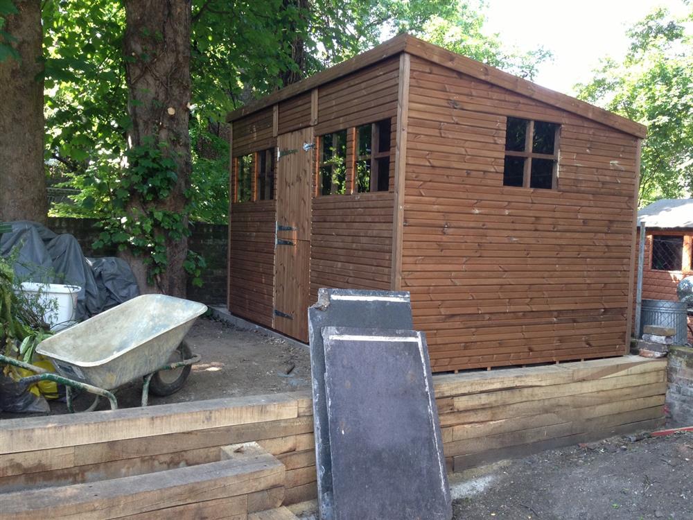 12x8 Pent-C Beast wood Garden shed.