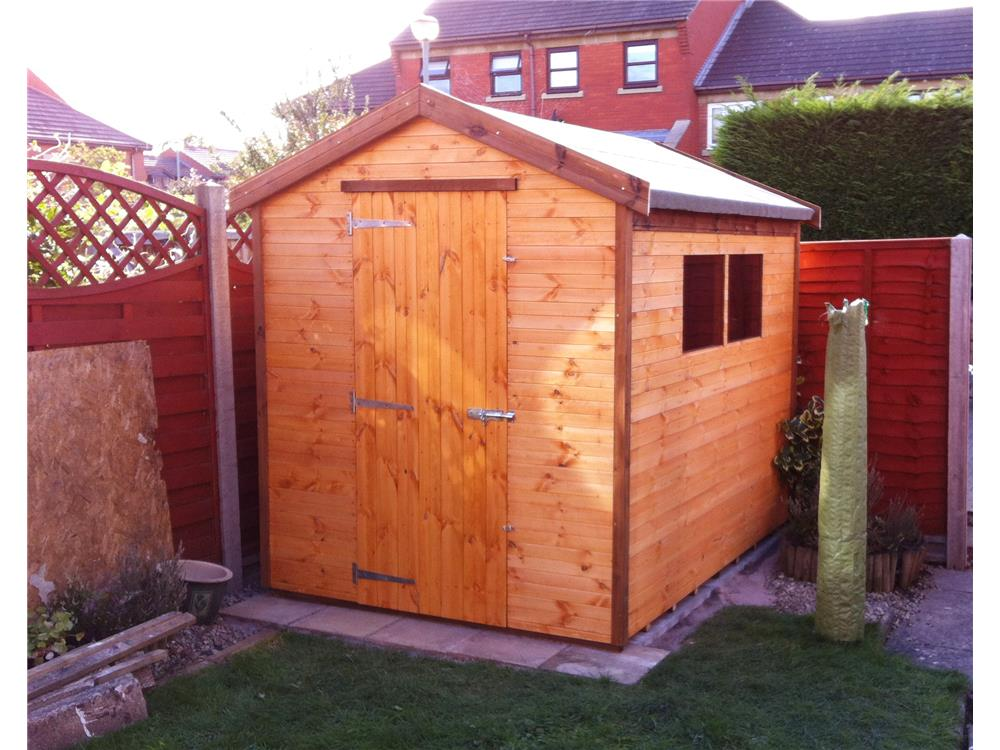 1000 x 750 · 108 kB · jpeg, 8x6 Apex Tanalised wood Garden shed.