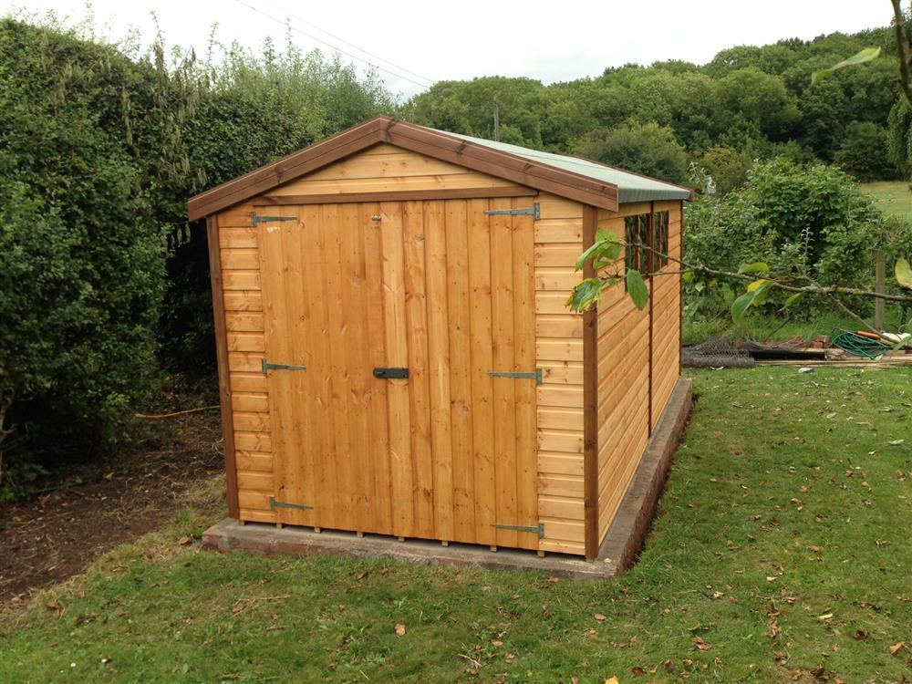 Wooden garden sheds 12x6 slp for Apex garden sheds