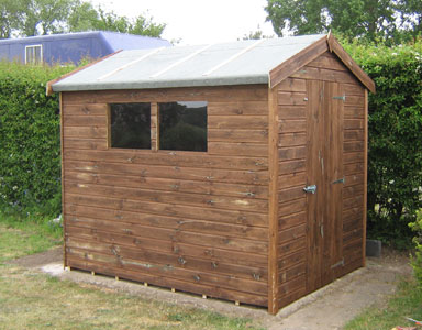 8 x 6 Apex Tanalised Garden Shed