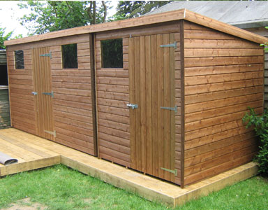 Bespoke 20 x 6 Pent Tanalised Garden Shed
