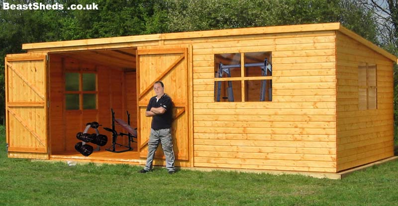Gym sheds garden gyms with free uk delivery and fitting