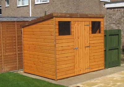pent-c wooden shed