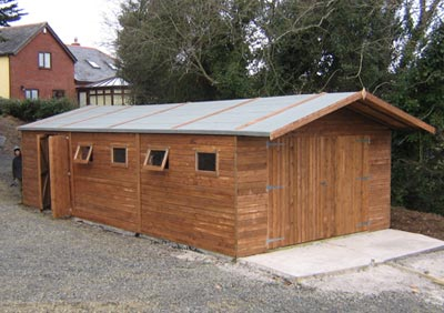 large bespoke shed