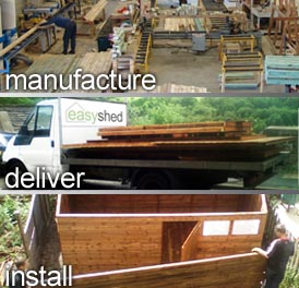 Beast Sheds manufacture, deliver and install all our wooden sheds. We also offer Free Fitting and Delivery on all bespoke sheds.