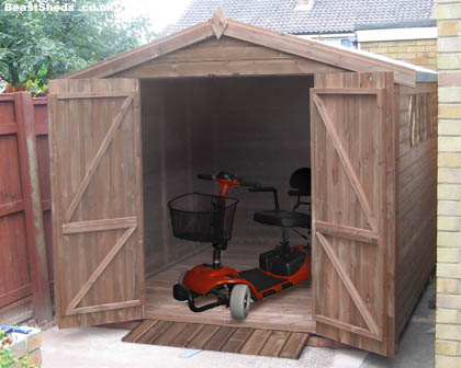 mobility-scooter shed interior