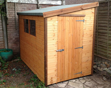 8 x 5 Pent F Garden Shed