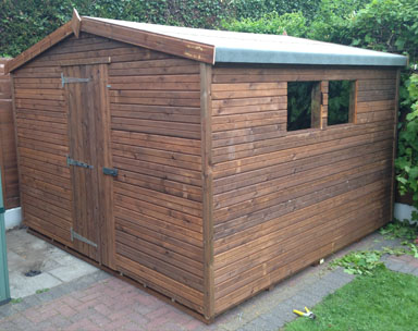 10 x 10 Apex Tanalised Garden Shed
