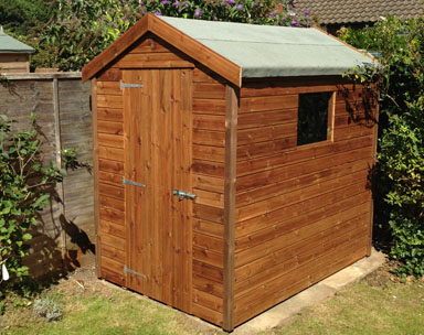 6 x 4 Apex Tan Shed