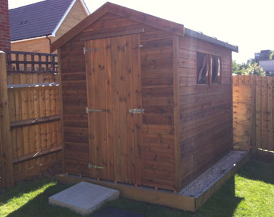 7 x 5 Apex Tan Shed