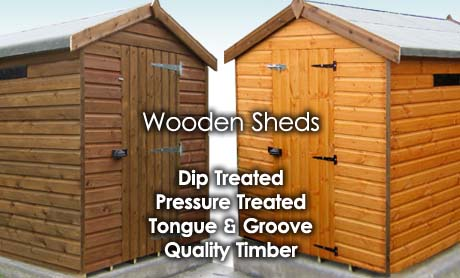 wooden shed banner